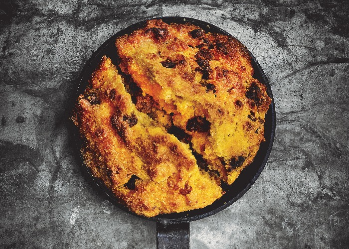 Cornbread with manchego cheese and chorizo recipe