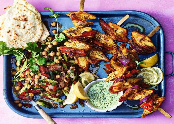 Tikka paneer with coriander and mint chutney recipe