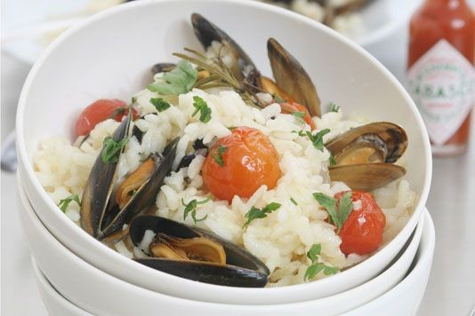 Ainsley Harriott's baked mussels recipe
