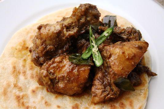 Andhra coconut chicken fry recipe