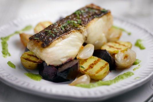 Barbecued fillet of hake recipe