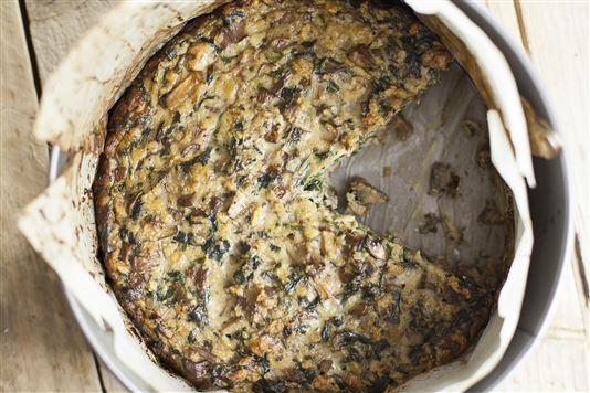 Autumn mushroom and chard torte recipe