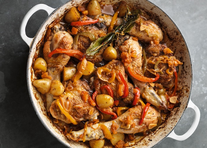 Michel Roux Jr's Basque-style chicken recipe
