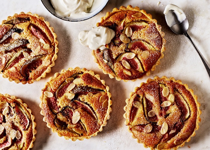 Fig and frangipane tarts recipe