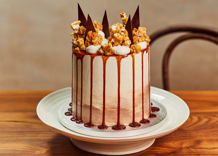 Magnificent Baileys Cake With Caramel Almond Crunch Recipe Funny Birthday Cards Online Inifodamsfinfo