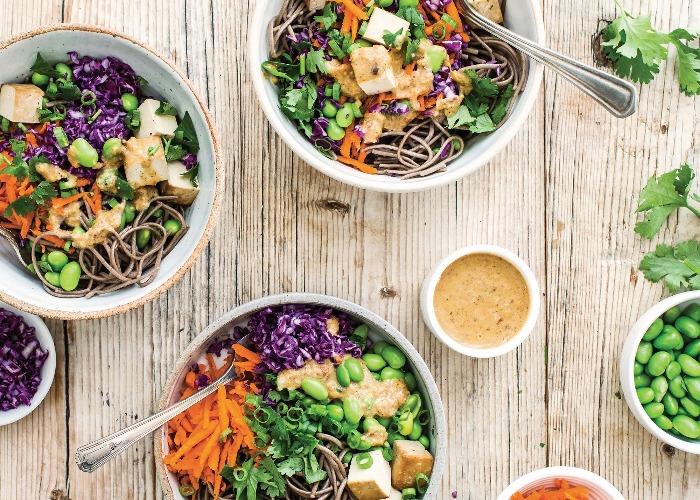 Vegetable soba noodle salad recipe