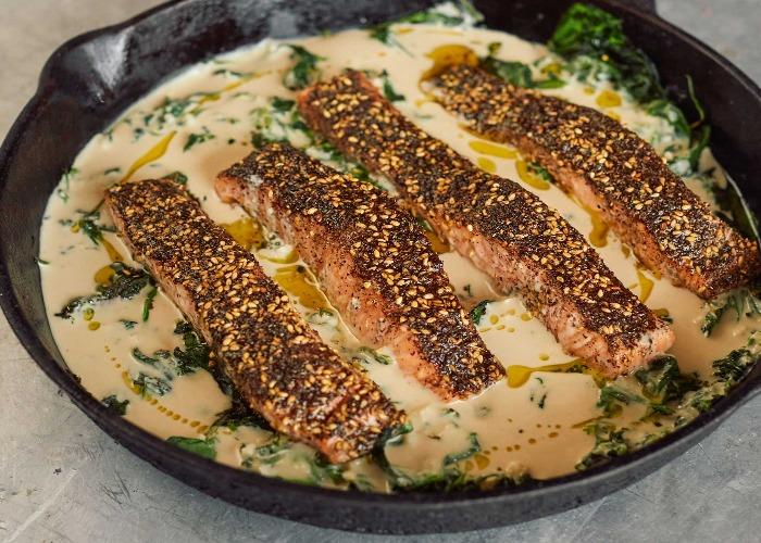 Za'atar salmon and tahini recipe