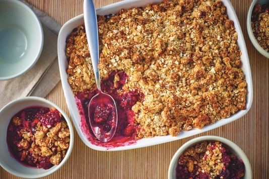 Lorraine Pascale's mixed berry crumble recipe