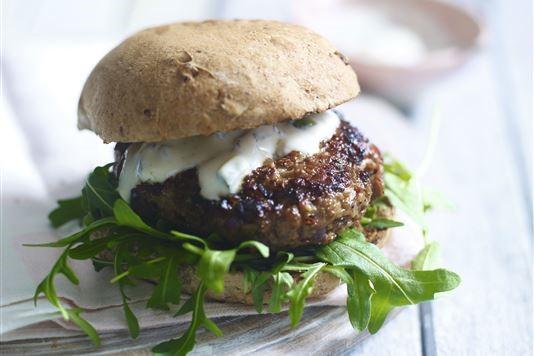 Dhruv Baker's harissa-spiced lamb burgers recipe
