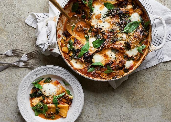 One-pan vegetable lasagne recipe
