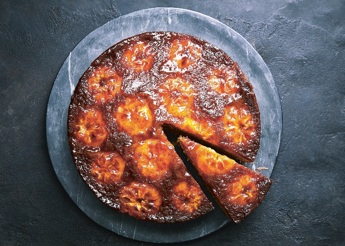 Clementine and cardamom upside-down cake recipe