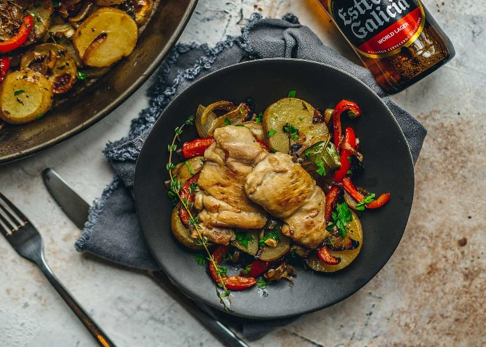 Chicken thighs with romesco recipe