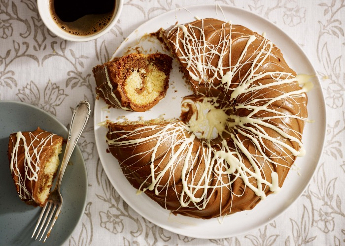 Mary Berry's marbled coffee ring cake