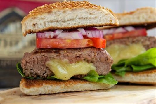 Vintage cheddar cheese burgers recipe