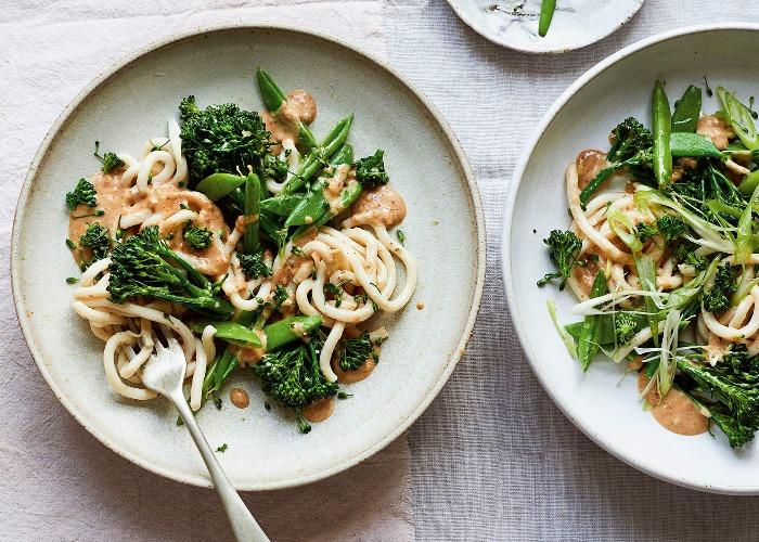 Vegan satay noodle stir-fry recipe