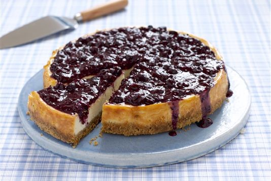 Blackcurrant and rosemary cheesecake recipe