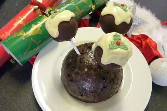 Christmas pudding cake pops recipe