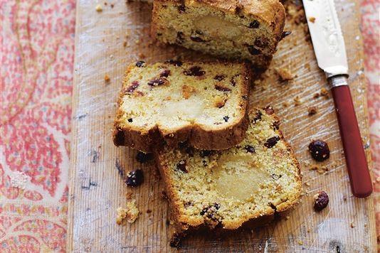 Cranberry and amaretto stollen cake recipe