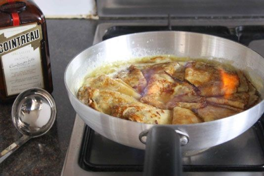 Crêpes Suzette pancake recipe