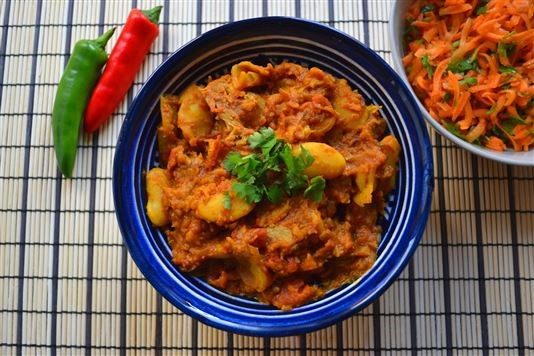 Mauritian Butter Bean And Lamb Curry With Carrot Salad Recipe
