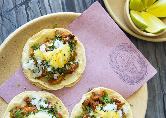 Tacos al pastor with pineapple and salsa taquera recipe