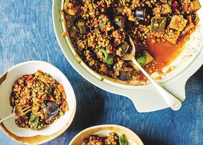 Quick lentil ratatouille recipe