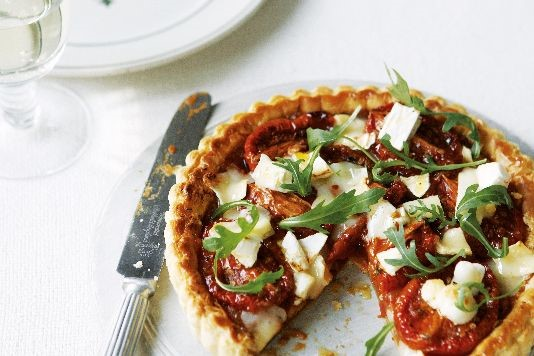 Tomato tart with goat's cheese recipe