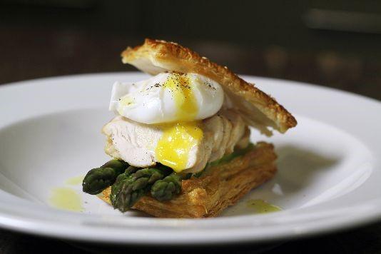 Chicken and puff pastry tart recipe