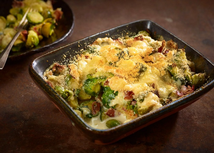 Comté and Brussels sprouts gratin recipe