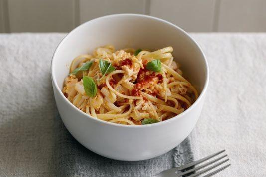 Dermot O'Leary's quick crab linguini recipe