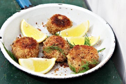 Devilled crab cakes recipe