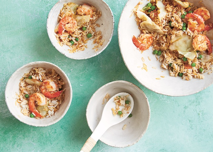 Prawn and cabbage fried rice recipe