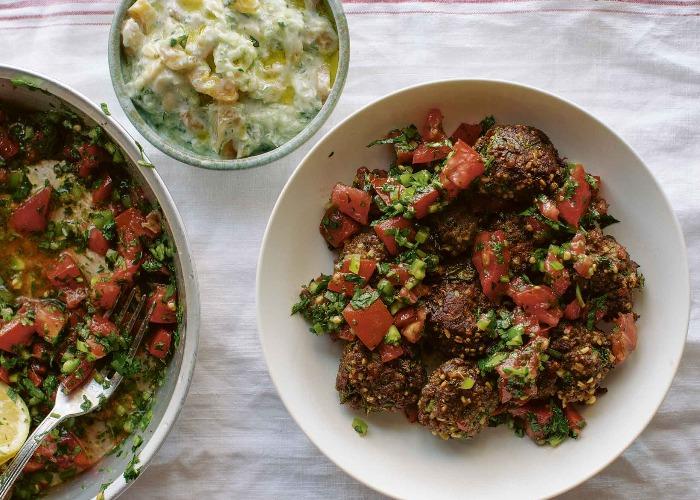 Lamb kofte with parsley salad recipe