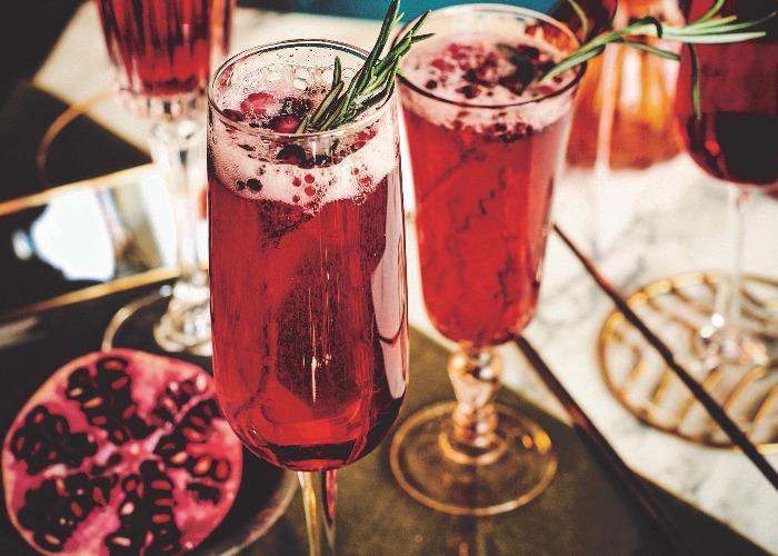 Rosemary and pomegranate fizz recipe