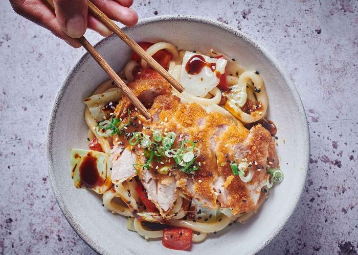 Chicken katsu noodles recipe