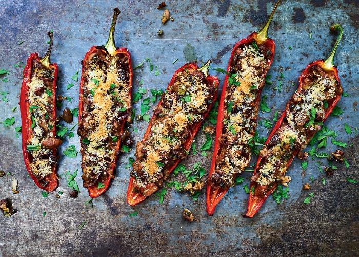Tuna and olive stuffed peppers recipe
