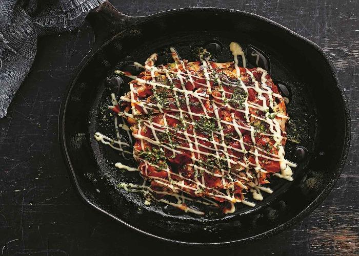 Smoked tofu okonomiyaki recipe