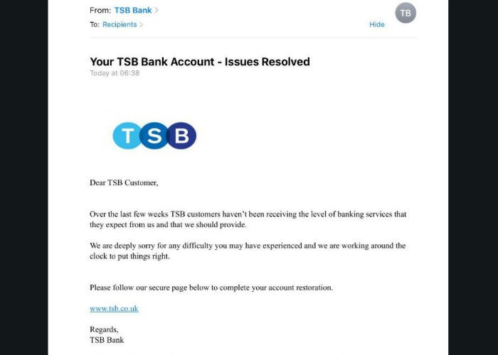 TSB scam emails and texts – how to spot a fake message