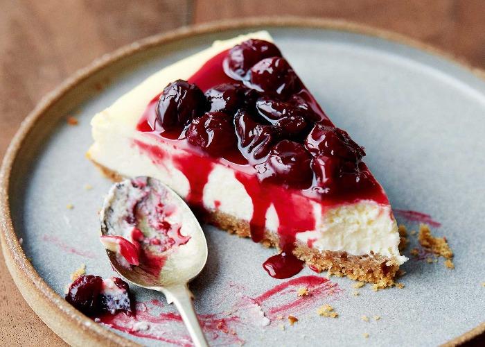 Sour cherry cheesecake recipe