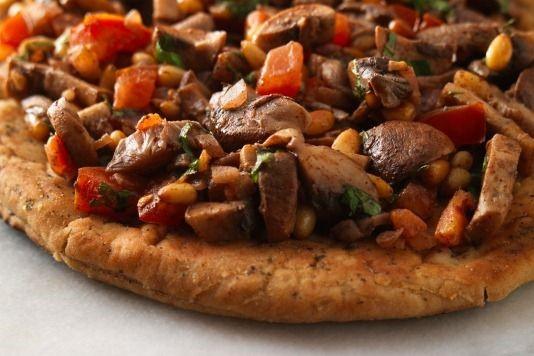 Turkish style mushroom pizza recipe