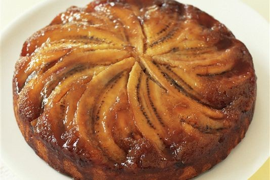 Bill Granger's banana maple upside-down cake recipe