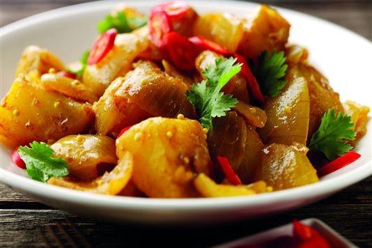 Potato and onion curry recipe