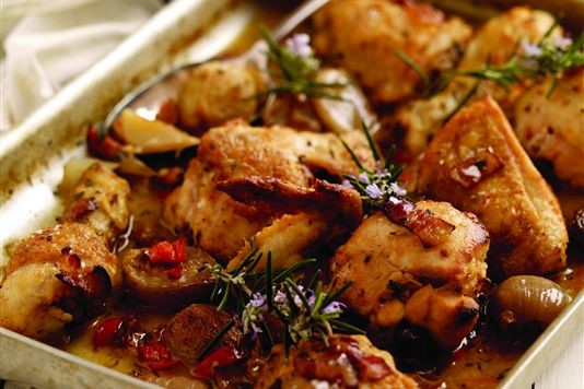 Chicken with prosecco and shallots recipe