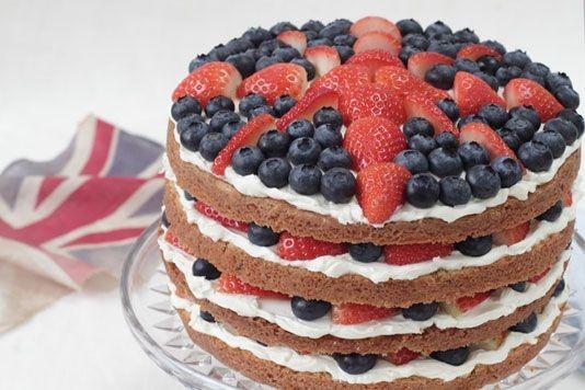 Fresh Fruit Birthday Cake Recipe