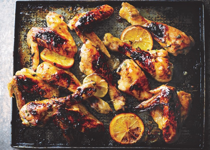 Chicken with lime, orange and jalapeño recipe
