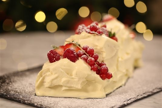 Eric Lanlard's white chocolate yule log recipe
