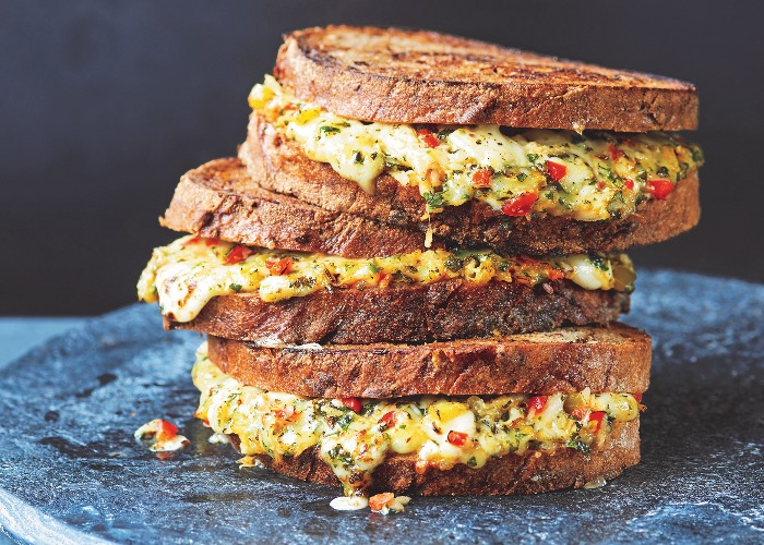 Grilled cheese and chutney sandwich recipe
