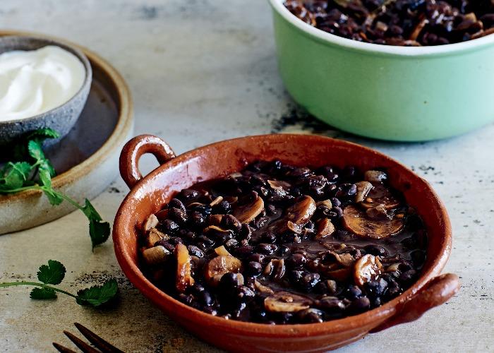 Smoky black beans recipe