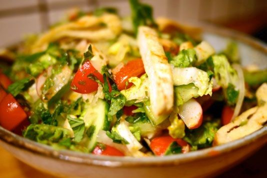 Middle Eastern Salad: Fattoush
