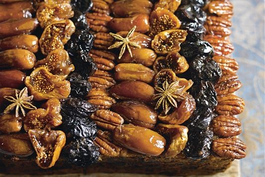 Fig, port and star anise Christmas cake recipe